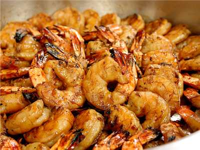 Grilled Marinated Prawns